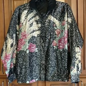 Jackets & Blazers - Roses & peacock feathers metallic jacket